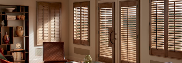 Stained Wood Shutters, Austin, Texas