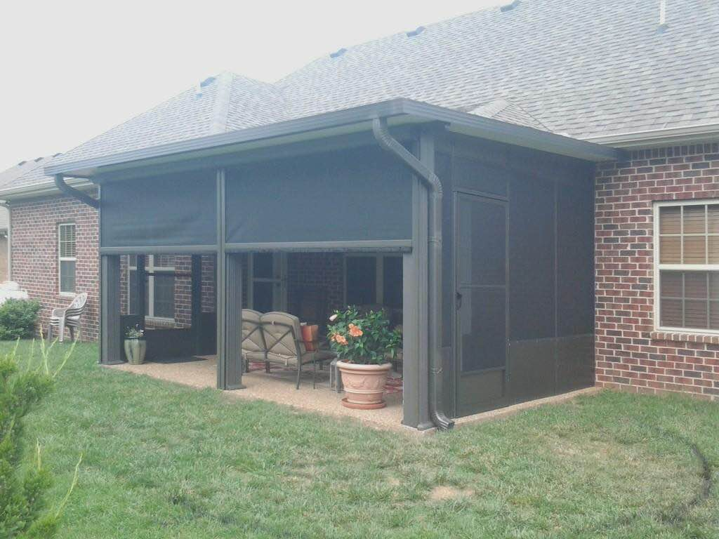 Cedar park retractable patio shades solar screens for Retractable outdoor screens
