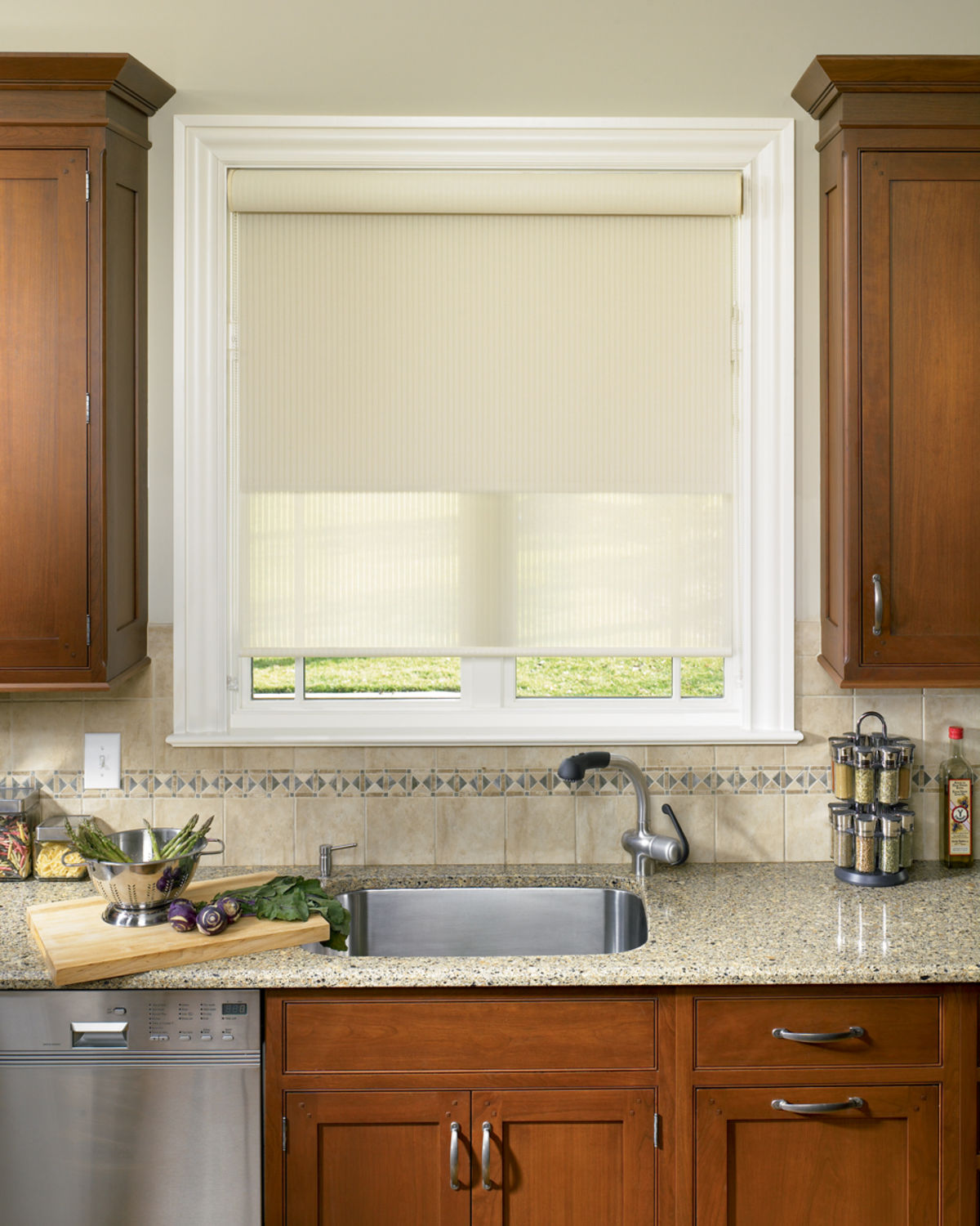 Kitchen Blinds And Shades: Roller Shades Austin, TX Window Treatments