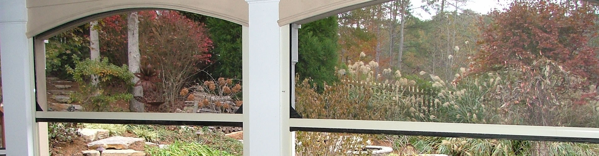 Austin Motorized Retractable Solar Screens