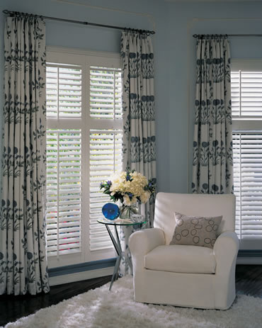 Hybrid plantation shutters from Hunter Douglas Austin