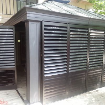 016 - Dark Colored Plantation Shutters