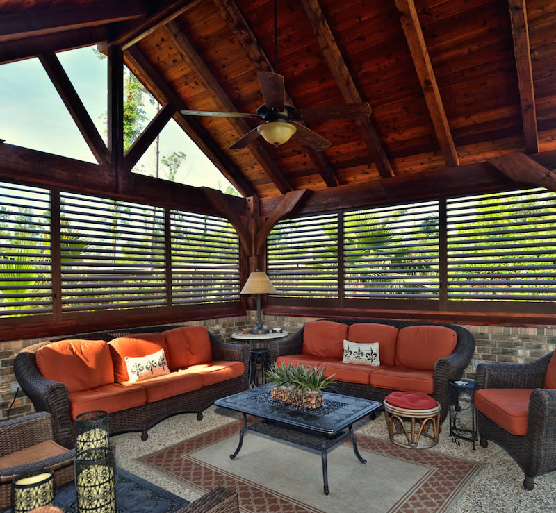 Austin Outdoor Plantation Shutters - The Shading Co