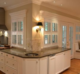 Interior shutters Austin kitchen