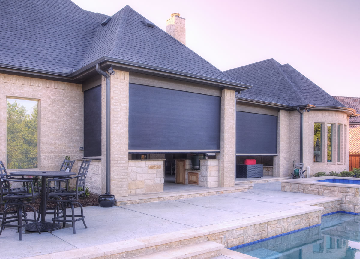 012 Motorized Patio Shades Davenport Ranch, TX